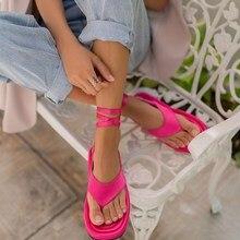 2021 verão fúcsia cetim tornozelo cinta sandálias feminino novo design de moda feminino clipe toe sapatos praia ao ar livre sandálias das senhoras Sandalias босоножки женские 2021 sandales femmes été sandalias de las m