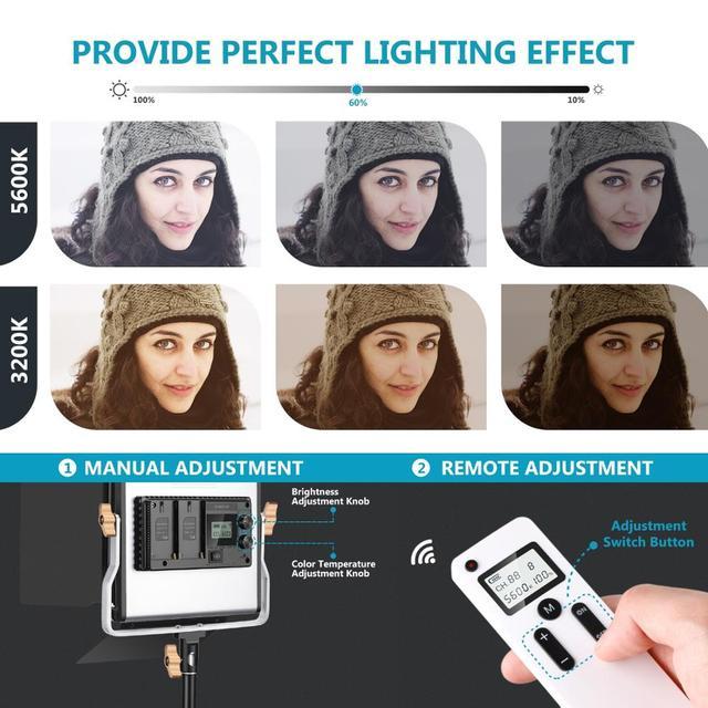 Фото neewer 2 комплекта усовершенствованный 24g светодиодный светильник