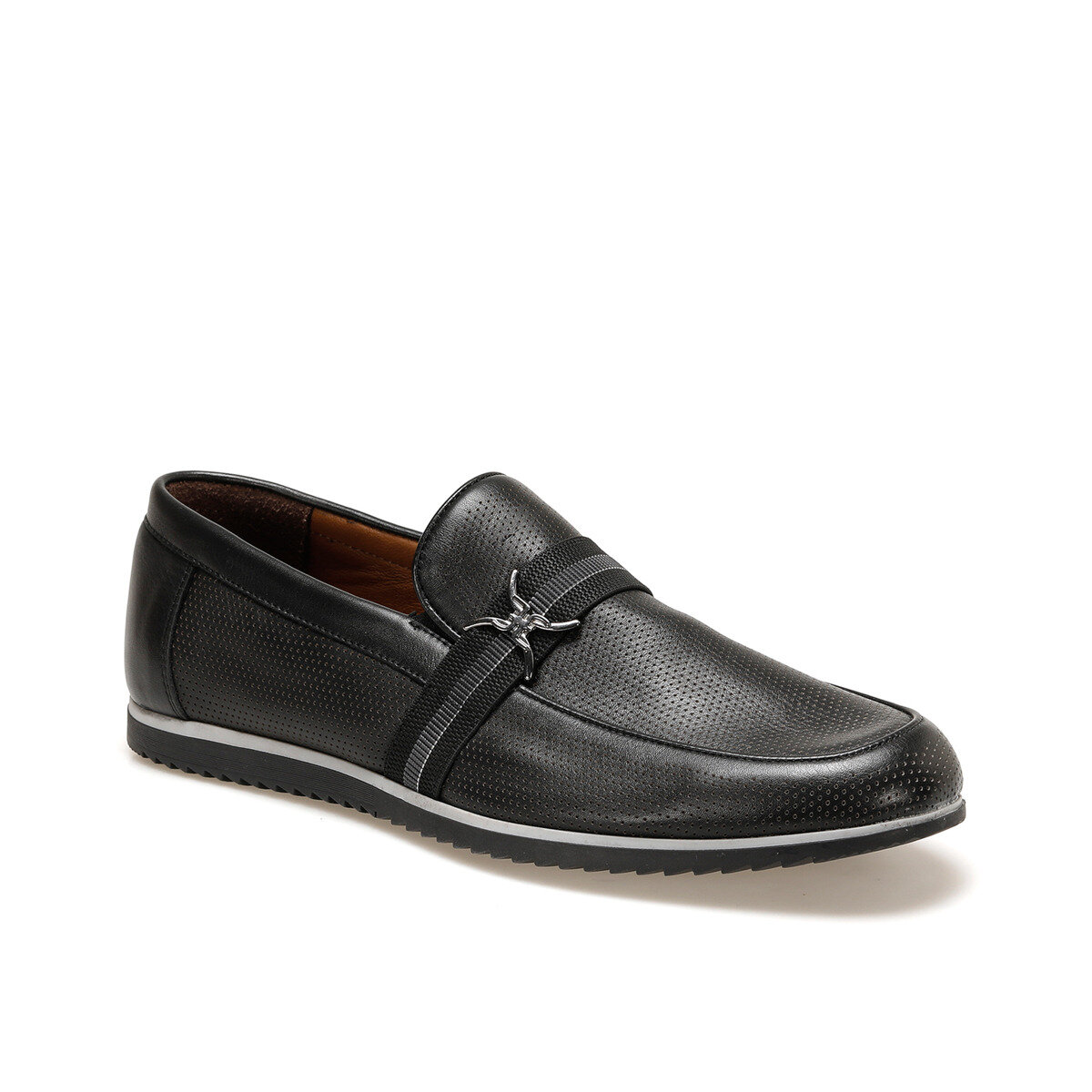 FLO 4231-1 Black Men Mocassin Garamond