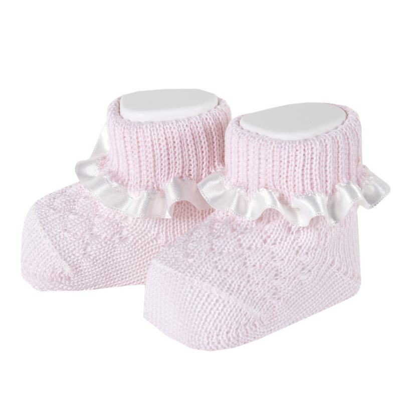 Socks for baby 2 pairs Chicco, size 099, color pink socks 2 pairs chicco size 022 color white