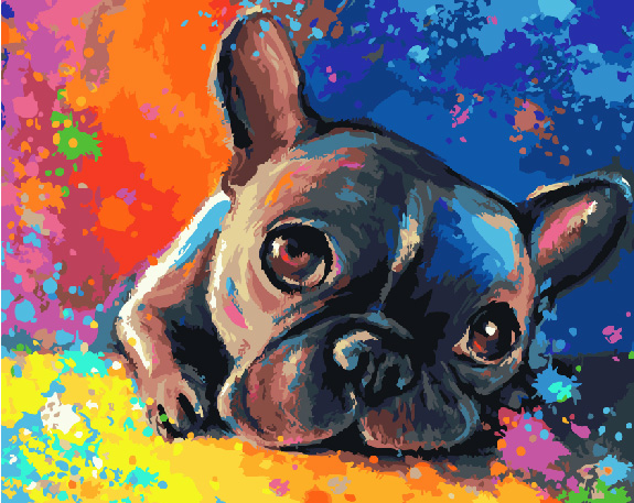 Painting By Numbers GX 28895 Dream Bulldog 40*50
