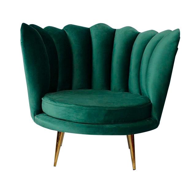 Armchair Art Deco Shell (85 X 78 X 73 Cm)