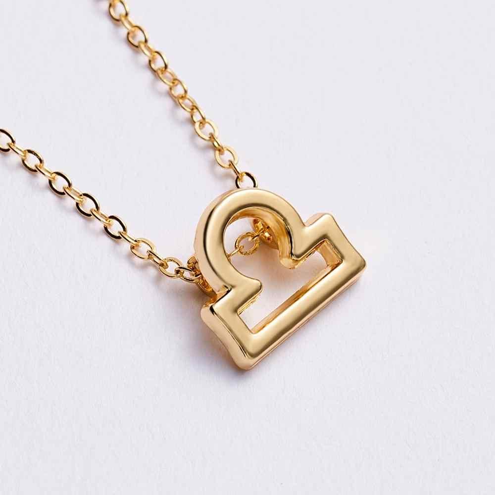 Kobieta elegancka gwiazda znak zodiaku 12 konstelacji naszyjniki wisiorki urok złoty łańcuszek choker naszyjniki dla kobiet biżuteria
