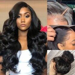 Parrucche frontali in pizzo 13x4 onda d'acqua capelli umani per donne prepizzicate con capelli per bambini capelli Remy brasiliani 150% dentite