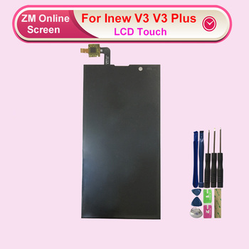 цена на Used For Inew V3 V3 Plus Touch Screen With Lcd Display Digitizer Assembly Replacement With Tools Free Shipping