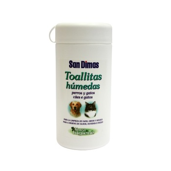SANDIMAS 50 Toallitas Limpiadoras Multiusos para Mascotas (Perros y Gatos)