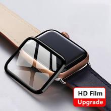 Protetor de tela para apple assista caso 44mm 40mm série 6 5 4 3 se 42mm 38mm 9d hd filme macio à prova dwaterproof água iwatch caso acessórios