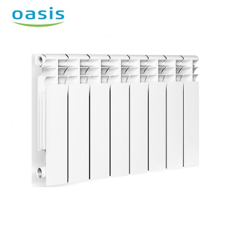 004 Bimetal Radiator Oasis 350/80/8 Electric heater air heater heating elements household radiator home energy saving 220v household electric heater rotatable energy saving head shaking heater fast heating 3 gear control electric heater eu au uk