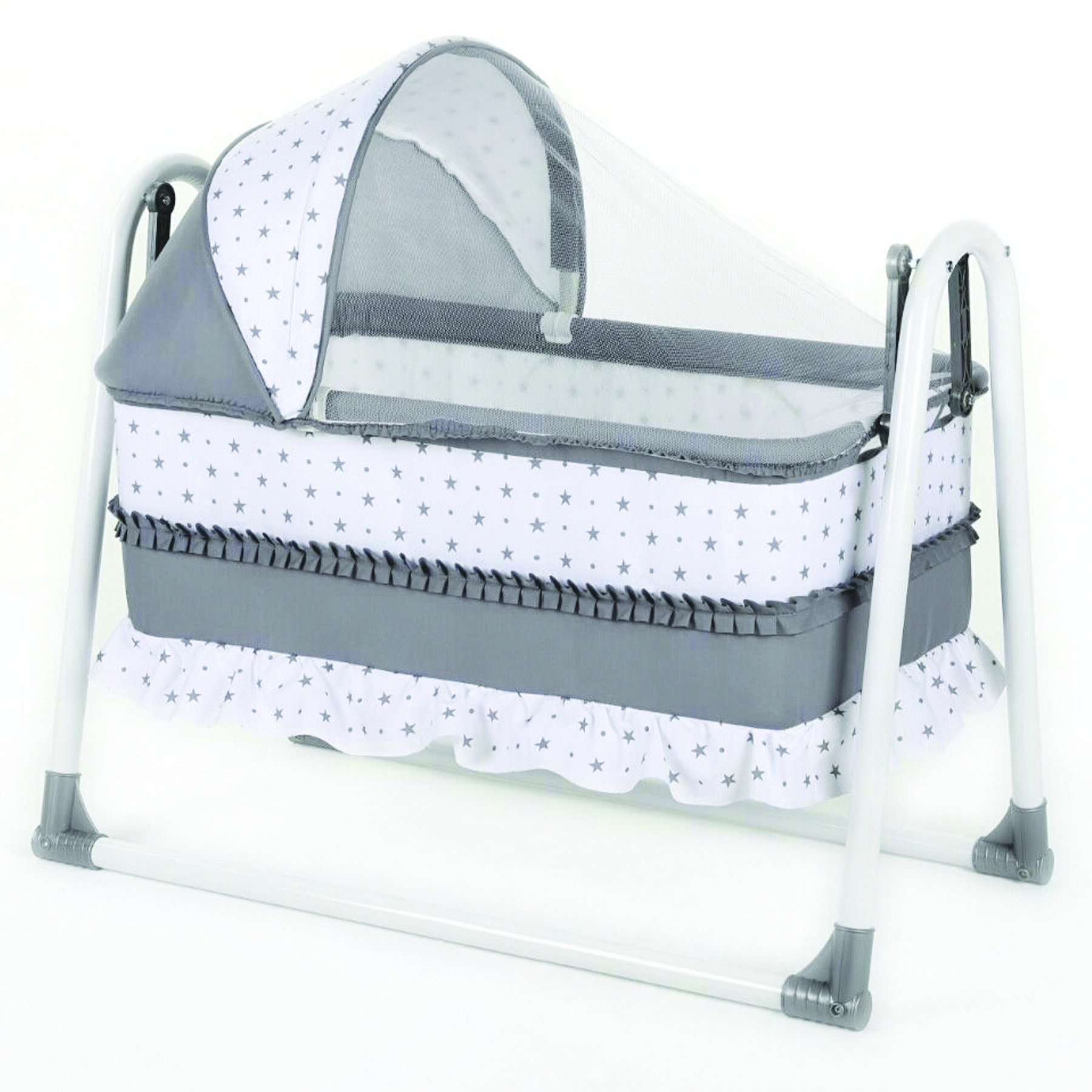 Bebegen Elite Portable Rocking Baby Crib Gray