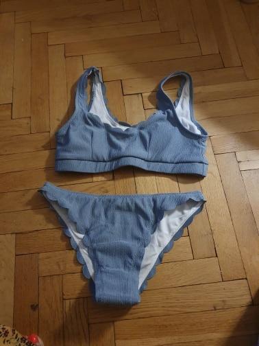 INGAGA Push Up Bikinis 2021 Swimsuits Black Swimwear Women Scalloped Bathing Suit Women Solid Ribbed Biquini Bikini Set Bathers|Bikini Set|   - AliExpress