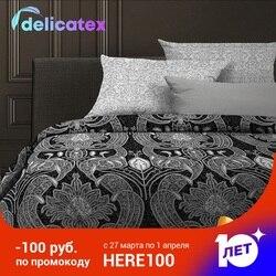 ชุดเครื่องนอน Delicatex 6468-1 + 6469-1-Hamburg บ้านสิ่งทอเตียงแผ่นผ้าลินินเบาะครอบคลุมผ้านวม Рillowcase