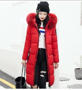 Image 1 - Женское высококачественное пальто Hiver, длинное платье, 2019