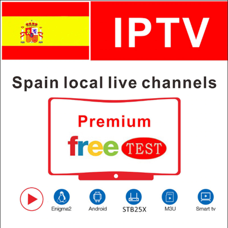 IPTV Spain 1 Year Live Channels DAZN Movistars M3u IPTV Subscription Via IPTV SMARTERS Smart Iptv For TV Box Android Smartphone