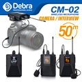 Debra Audio UHF Wireless Lavalier Microphone with 30 Selectable Channels 50m Range for DSLR Camera Interview Live recording