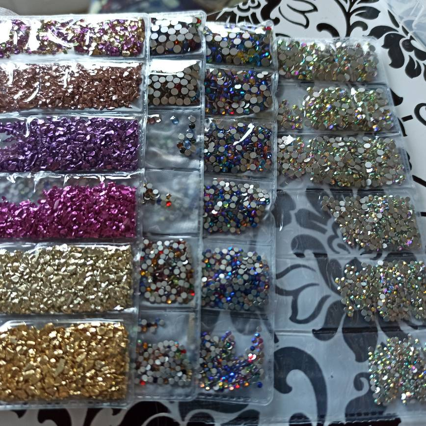3D Nail Art Mini Stainless Steel Metal Beads photo review