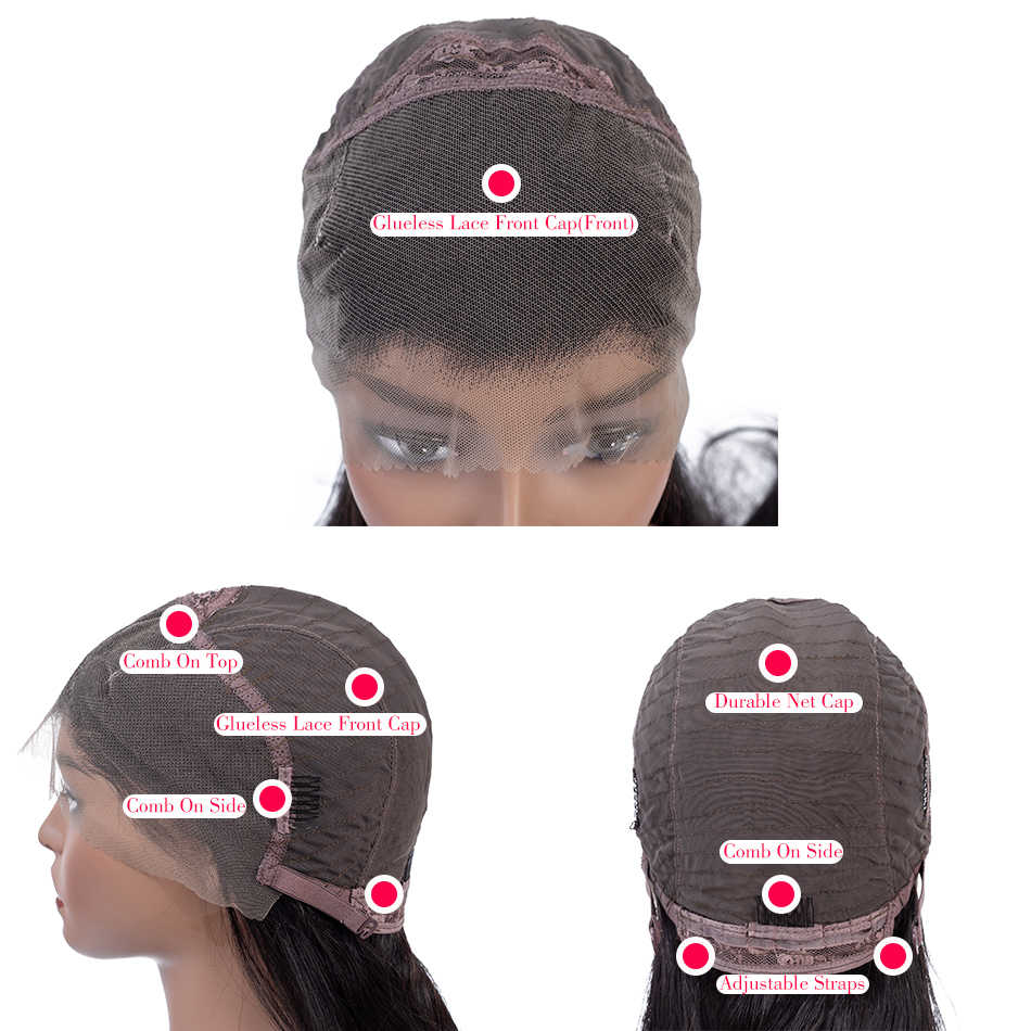 13x4 Lace Front Human Hair Wigs Straight Lace Frontal Wig Pre Plucked Hairline Baby Hair Free Part Middle part Three part  Wigs
