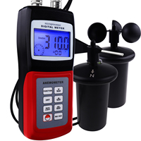 Digital Multi function Meter Anemometer Portable Thermo 3 CUP Probe Type Sensor Air Weather Wind Speed Direction