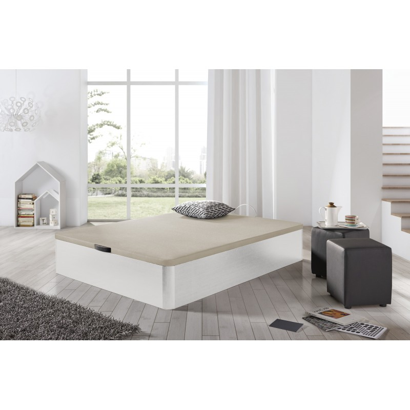 Matris-box Wooden Bed Folding Storage Base 3D Various Measures Bedroom Colores Cambrian And White