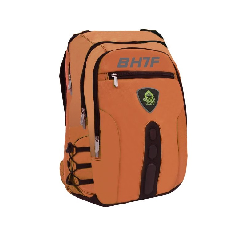 Backpack Gaming Keep Out Bk7 Full Orange To Notebooks 15,6 With Multiple Pockets