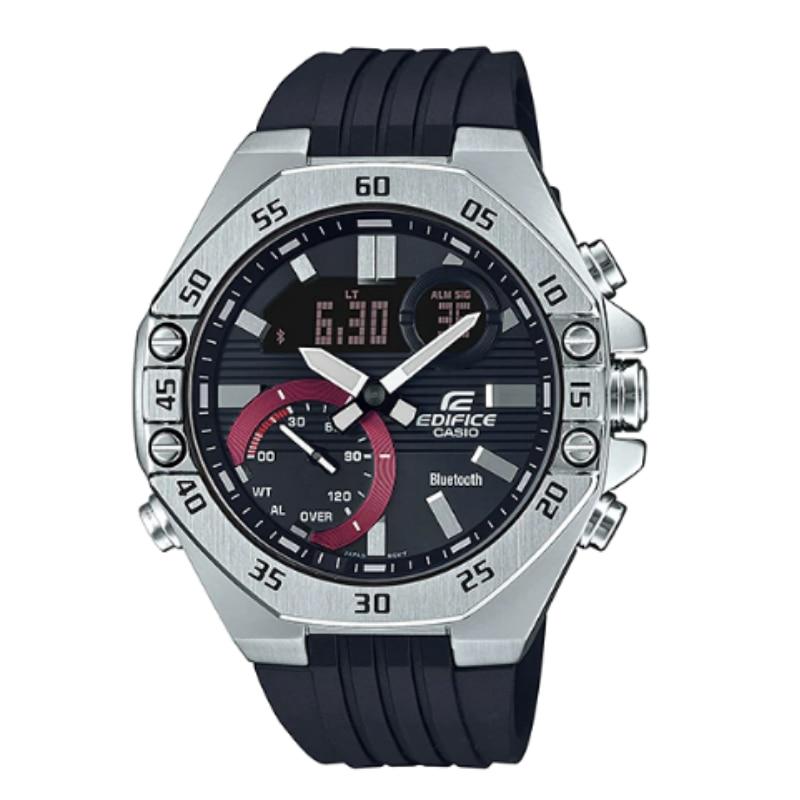 Casio Original Men Watches Fashion Brand Luxury Waterproof Quartz Technology Men Edifice Connected Leather Casual Watch ECB-10P