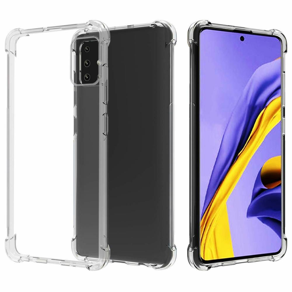 Stand Case For SAMSUNG GALAXY A51 Antishock Clear Gel Anti-Shock