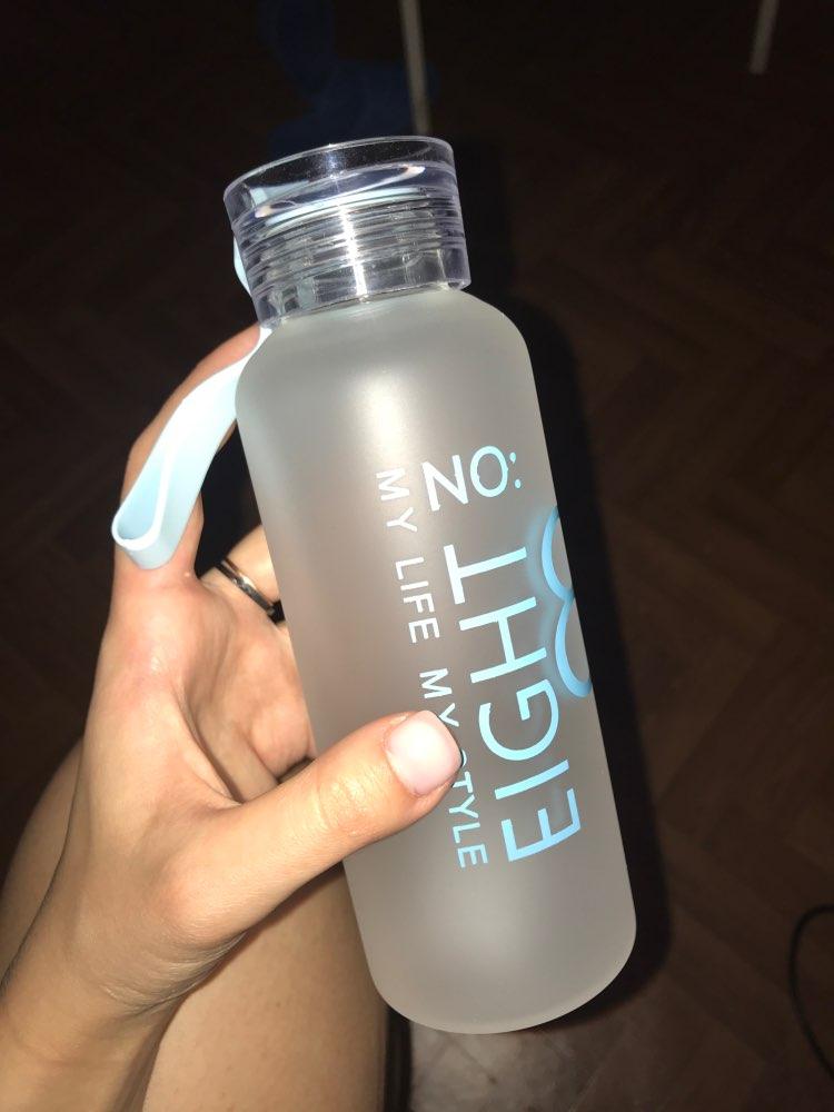 JOUDOO 300ml/400ml  Frosted Glass Water bottle Healthy Water Container Summer Lemon Water Bottle Drink Bottles Outdoor 47 Water Bottles    - AliExpress