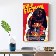 Pulp Fiction Classic Movie Quentin Tarantino Vintage Art Painting Silk Canvas Poster Wall Home Decor