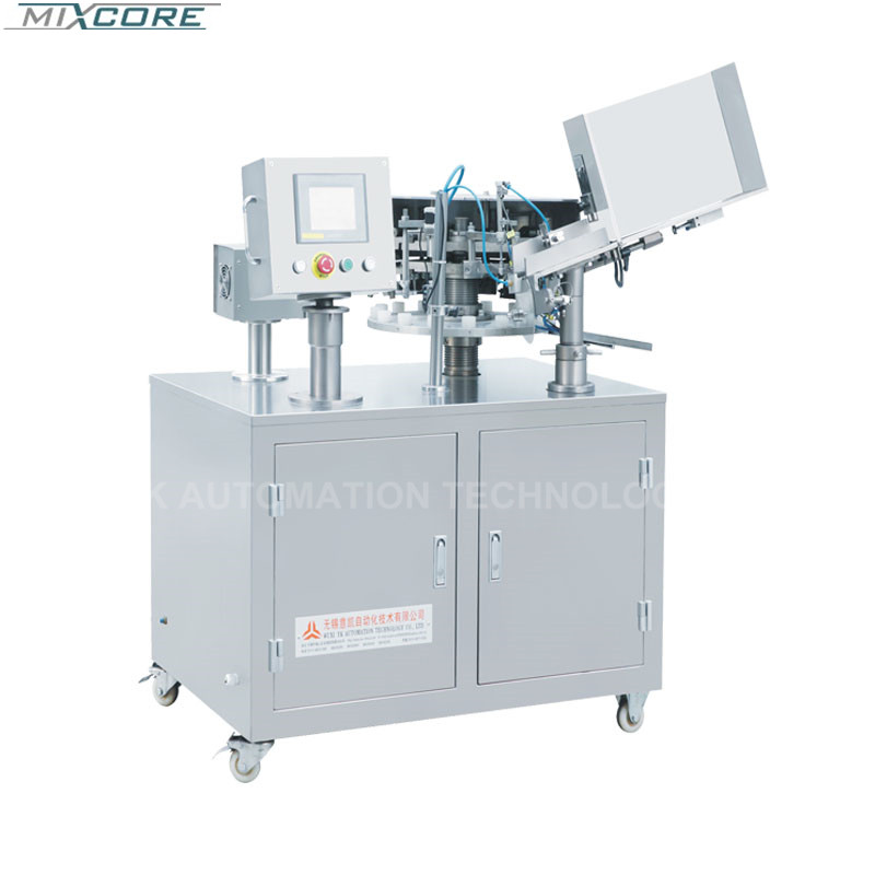 CE Stainless Steel Automatic Metallic Tube Filling &Folding Machine For High Viscosity Liquid