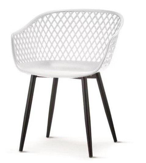 Armchair BELINDA Metal White Polypropylene