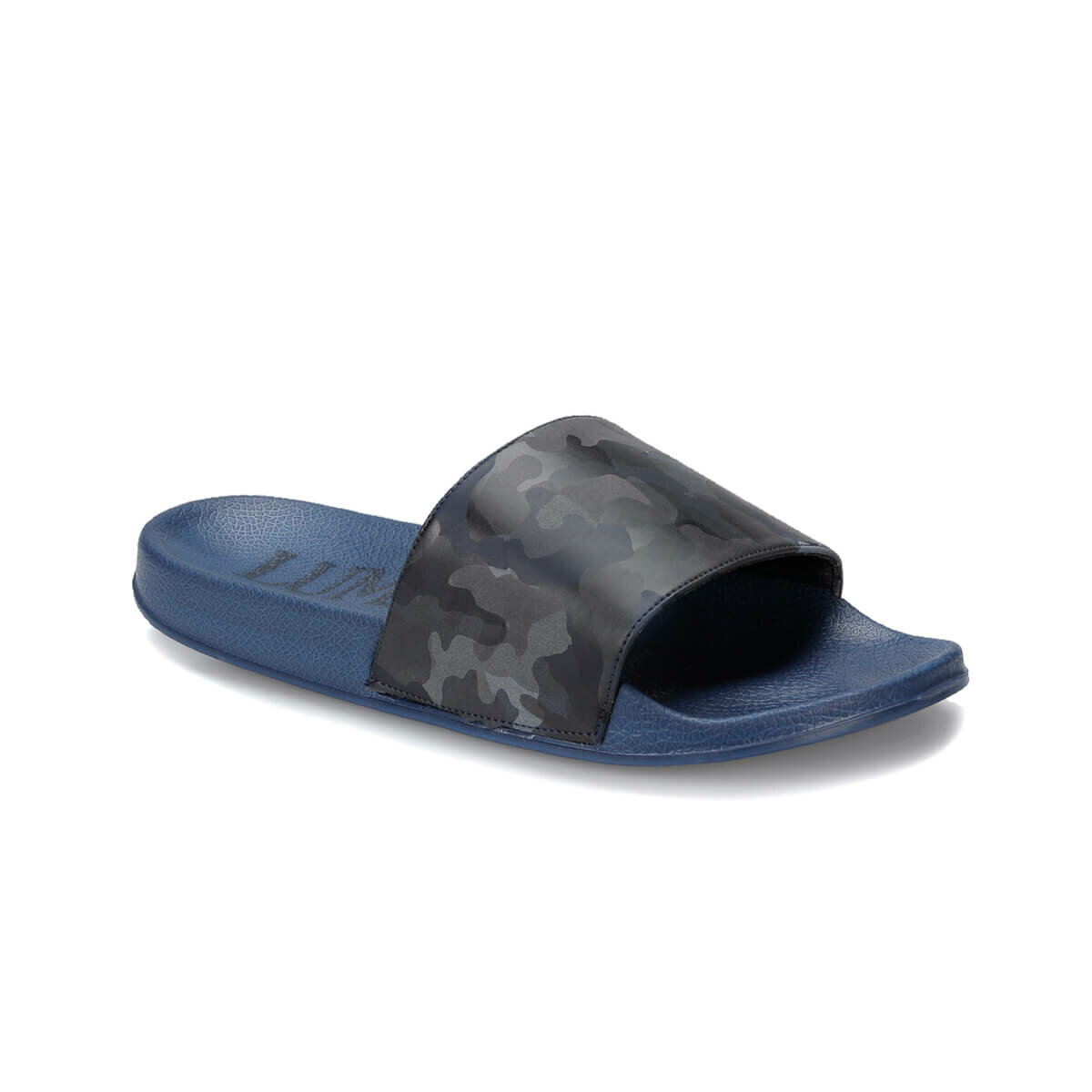 FLO THERMO Navy Blue Male Slippers LUMBERJACK