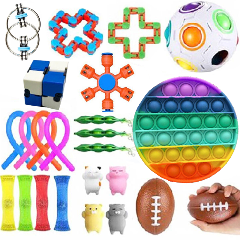 Fidget-Toys Anti-Stress-Toy-Set Mesh Marble Sensory Stretchy Strings Relief-Gift Girl