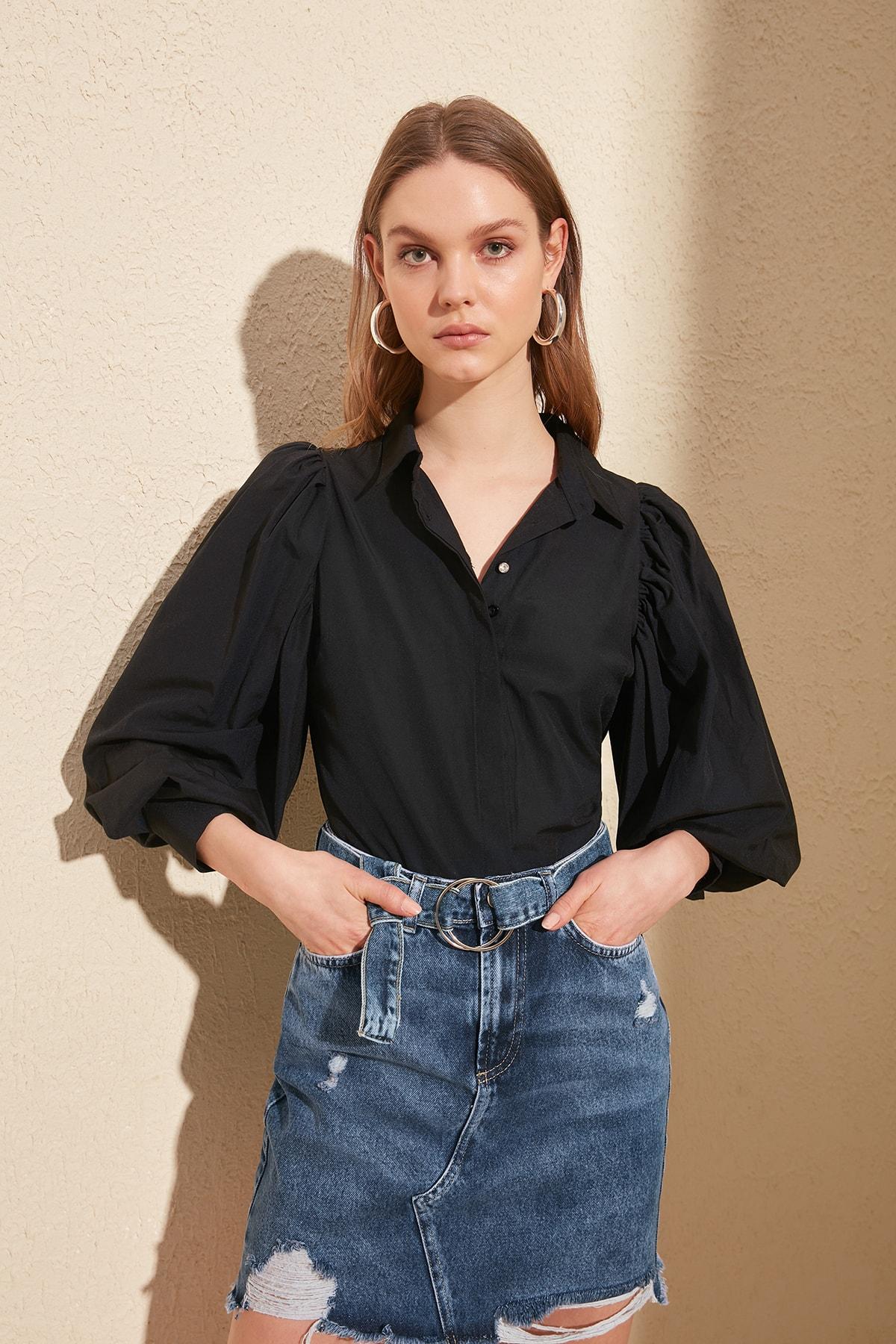 Trendyol Shoulder Detail Shirt TWOSS20GO0074
