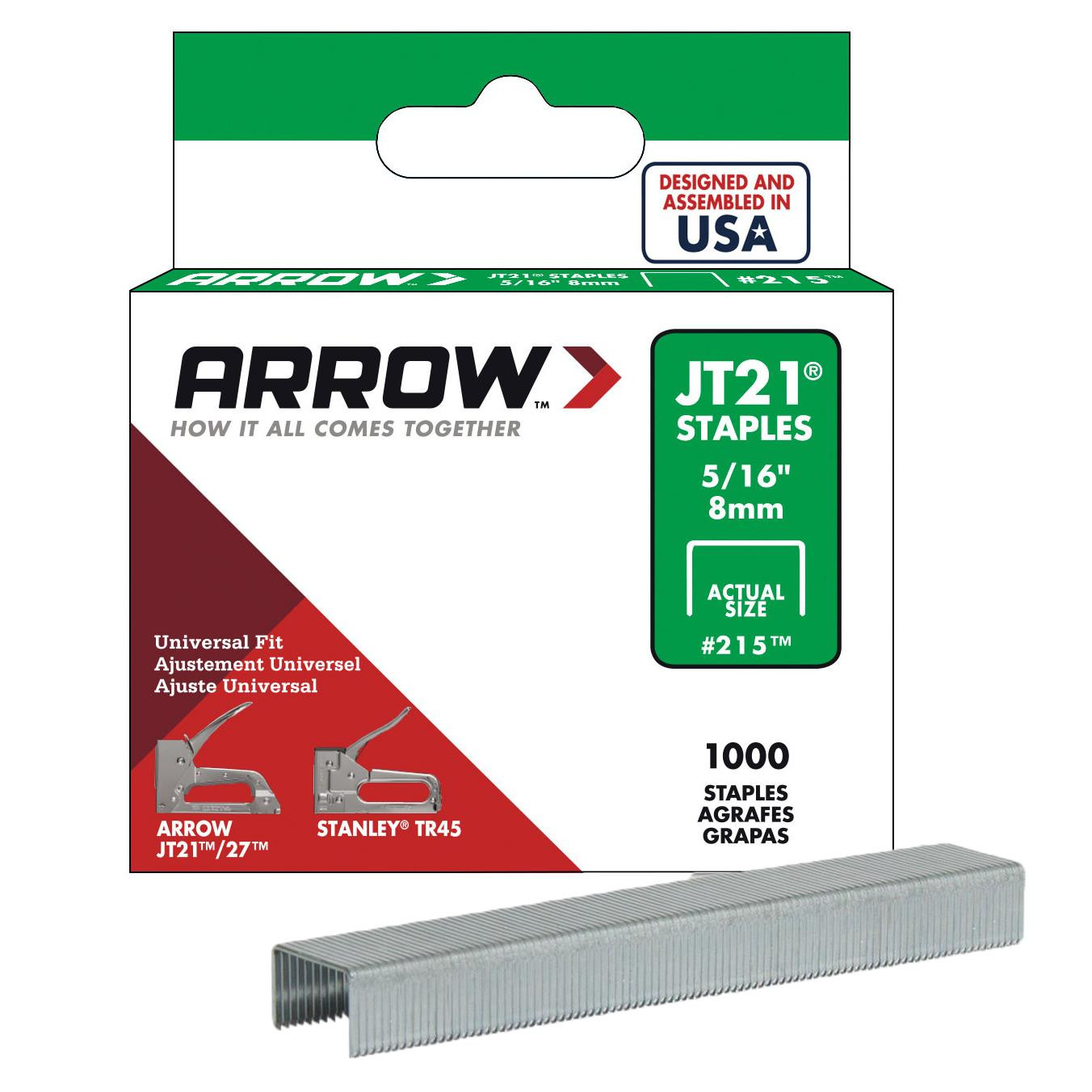 Arrow AR215 8mm 1000 PCs Professional Staple Wire