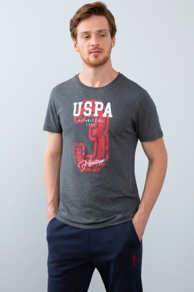 U.S. POLO ASSN. Gray Crew Neck Slim T-Shirt