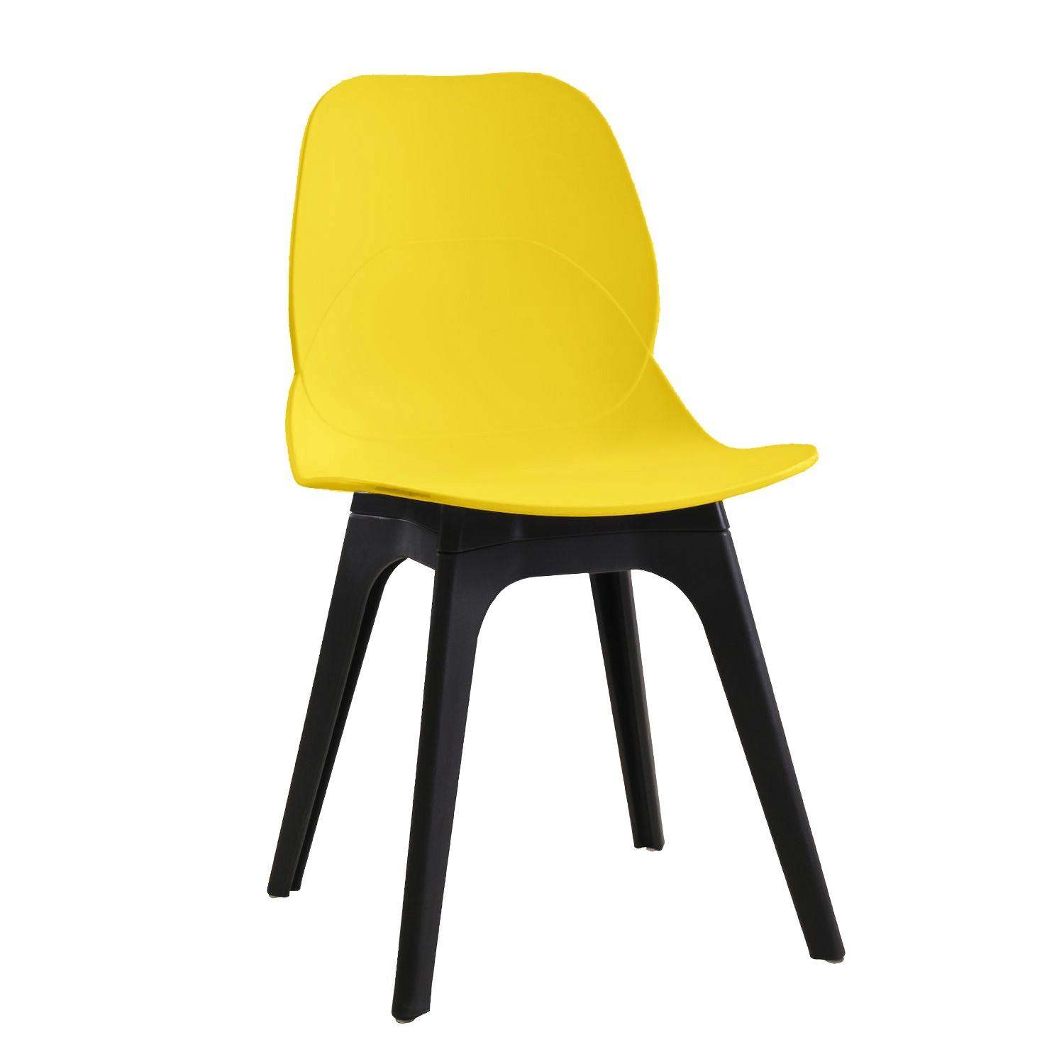 Chair ARIES, Polypropylene Black And Yellow
