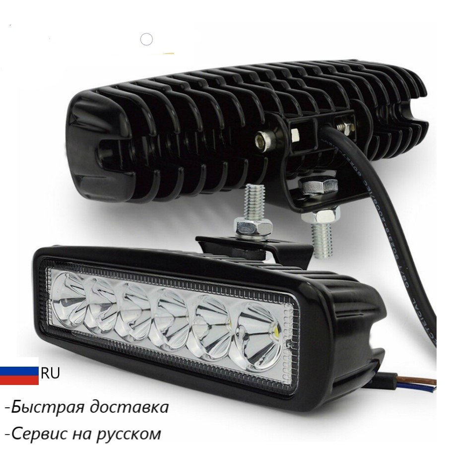 2pieces 18w Bright LED Headlights special equipment 10-30V SUV car accessories for Off Road Truck 4x4 LADA NIVA NIVA passat golf image