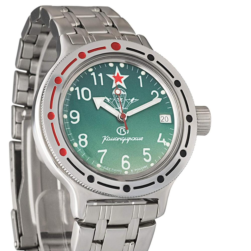 Vostok Amphibia 420307 Komandirskie Military Russian Diver Watch Paratrooper VDV