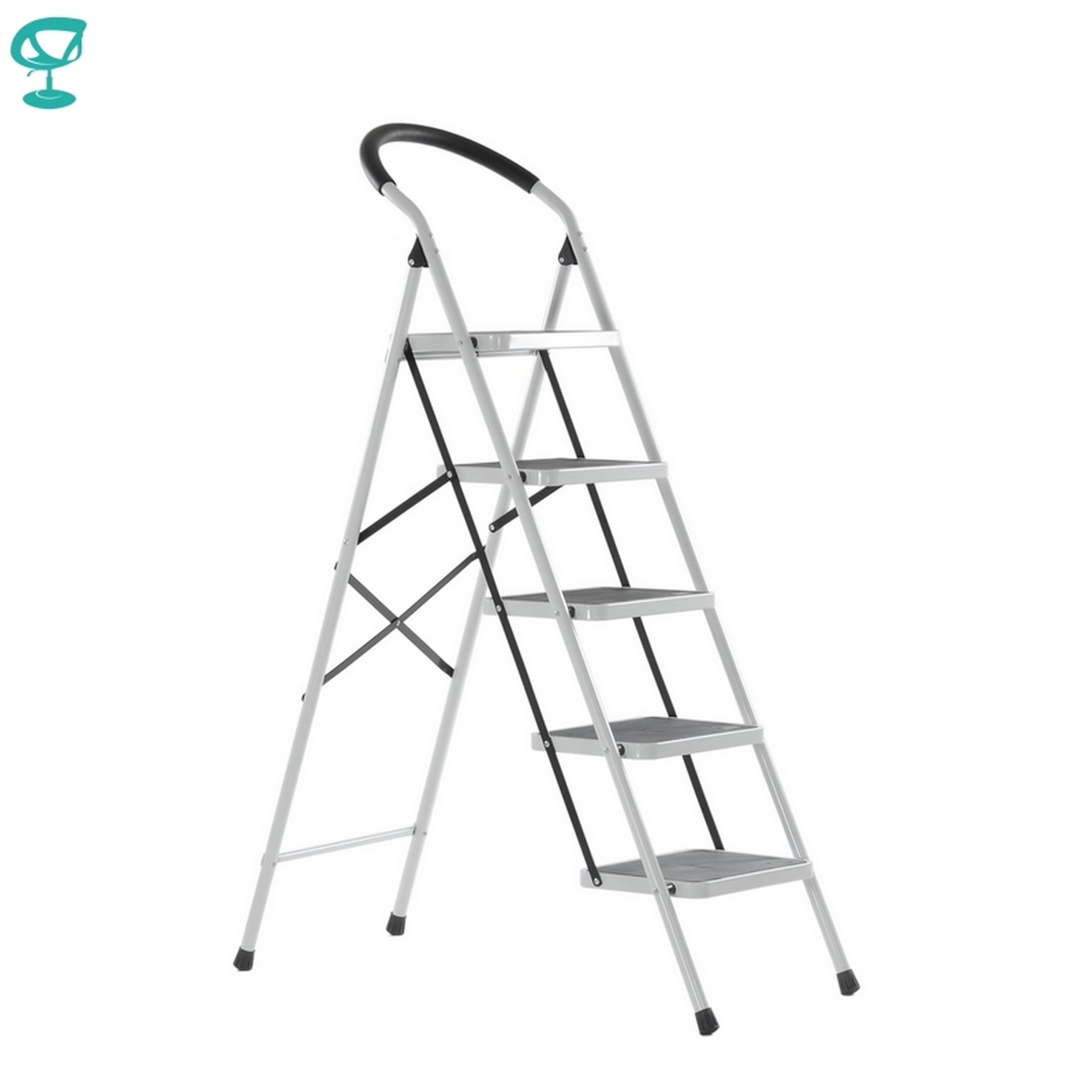 95668 Barneo St-35 Ladder Steel 5 Stages White Single Side Max Load 150 Kg Free Shipping To Russia