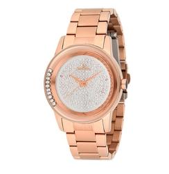Reloj para mujer es6385fe. Pulsera de acero inoxidable con revestimiento de 430 PVD Rosa cristal mineral luz solar