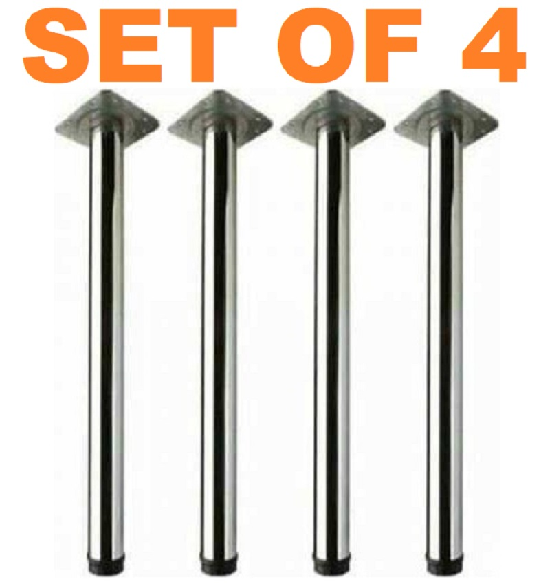 - BEST QUALITY - Made In Turkey H: 71 Cm Long Cylinder Table Metal Iron Leg  Stainles Steel Legs
