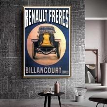 Renault Freres viejo maestro anuncio Retro Vintage póster pared fotos pared arte habitación decoración pintura lienzo impresión