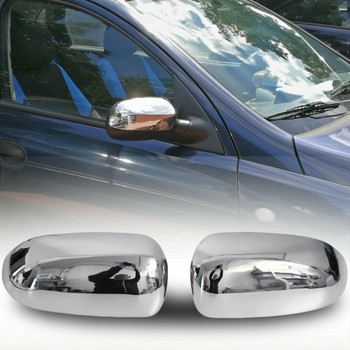 Cases Chrome rearview for Opel Corsa C