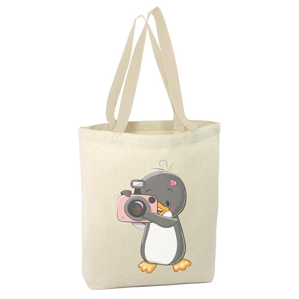 Angemiel Bag Photographer Penguin Shopping Beach Tote Bag