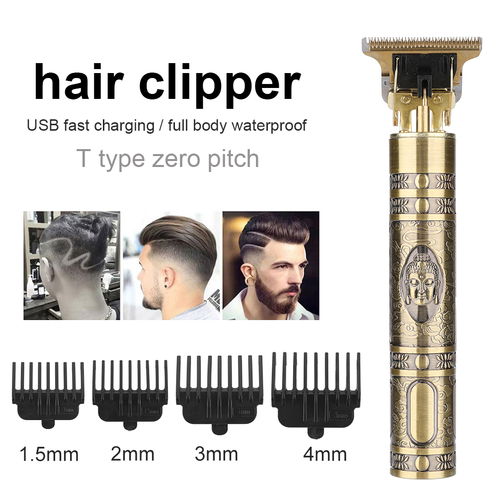 T9 LCD Display Men s Hair Clipper Beard Trimmer Rechargeable Hair Cutting Machine Barber Shaver Electric