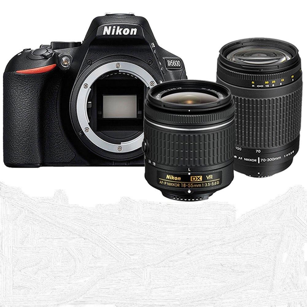 Nikon D5600 DSLR Camera Body & AF P 18 55mm Lens and AF 70 300mm Lens Kit|DSLR Cameras| - AliExpress