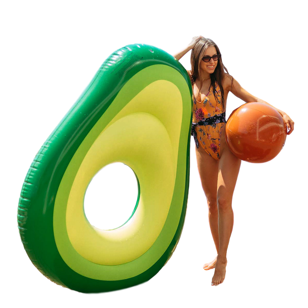 Flamingueo Mat Pool Avocado Float Giant Bouncy Avocado Float Is For Pool Adult Mat Pool