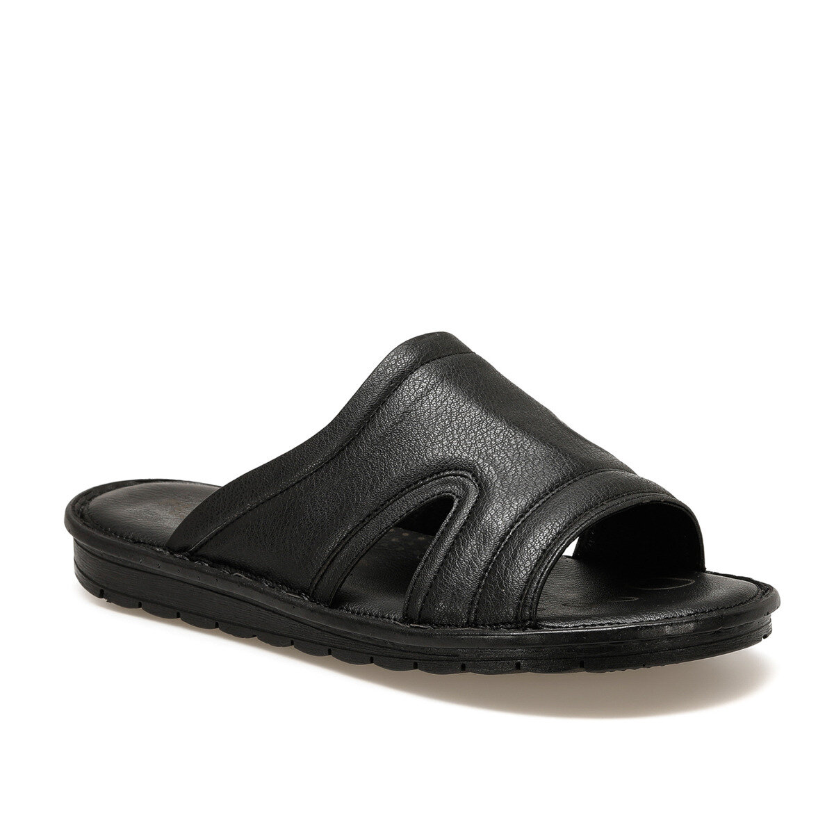 FLO 106 C Black Male Slippers Flexall