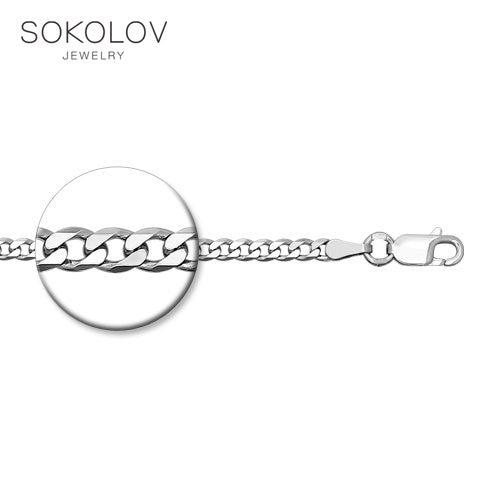 Chain SOKOLOV Silver Fashion Jewelry Silver 925 Women's/men's, Male/female