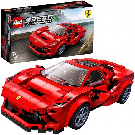 LEGO Speed Champions - Ferrari F8 Tribute, Construction Set Racing Car Toy