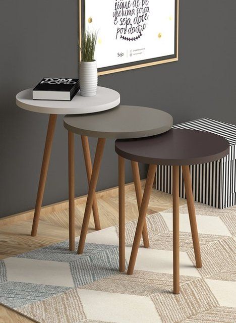 3 Round Nesting Colorful Side Tables 3
